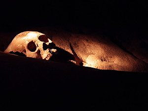 Skeleton found in Actun Tunichil Muknal. Photo: Antti T Nissinen / Flickr.