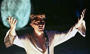 David Bowie, the main act of the MGD Blind Date concert, performs at the Vic Theater in Chicago, September 19.