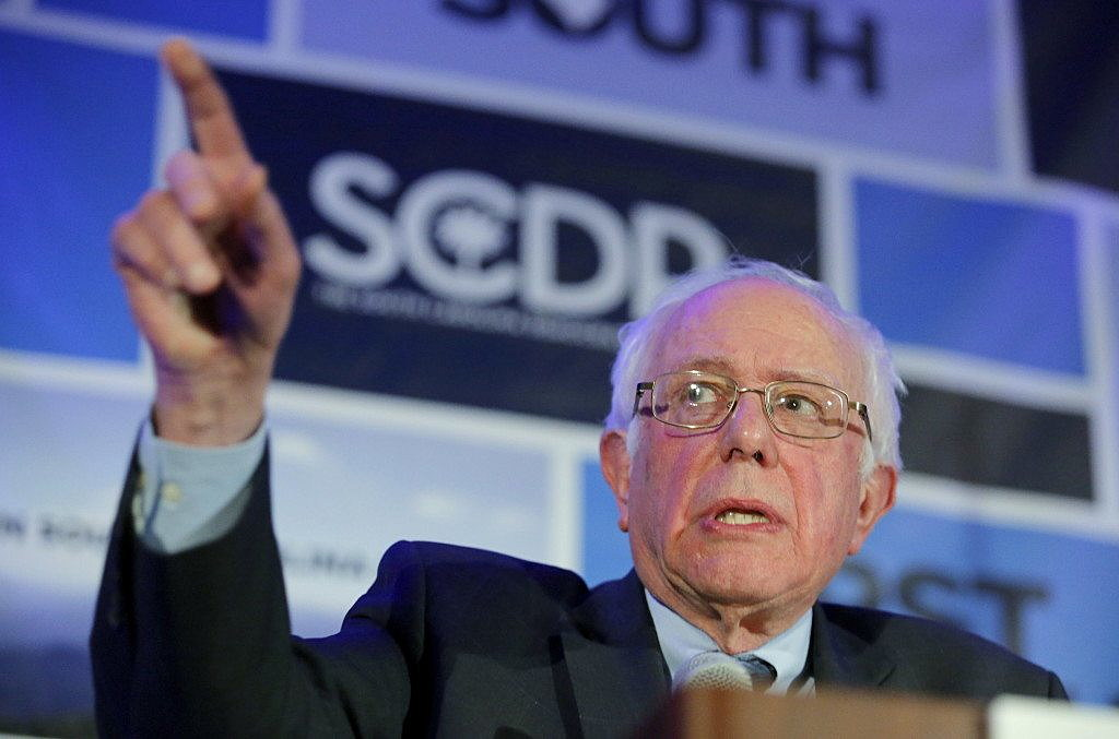 U.S. Democratic presidential candidate Bernie Sanders speaks during the First in the South Dinner in Charleston, South Carolina, January 16, 2016. REUTERS/Chris Keane
