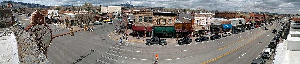 Downtown Cody, Wyoming, prepares for a summer parade on Main Street. (Photo by Martin Kidston)
