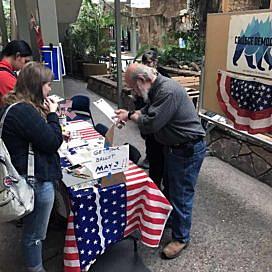 """Boomer Brigade"" registers UM students on behalf of Dems"
