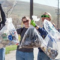 Trash meets technology with Clark Fork River text line
