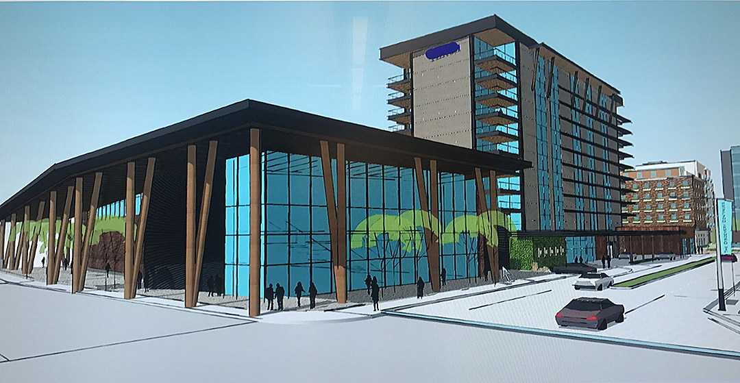 An Architectural Rendering Of The Hotel Fox And Missoula Convention Center  Planned For The Corner Of Orange And Front Streets In Downtown Missoula.