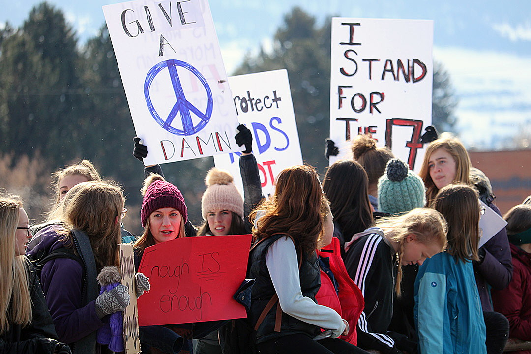 Several Hundred High School Students In Missoula Left Cllast Week To Urge The Nations Lawmakers To Enact Common Sense Gun Reforms Sen