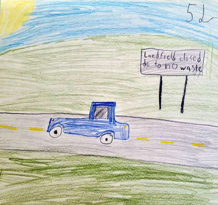 Sustainable missoula fifth graders know a clean earth equals a artwork of a rattlesnake elementary fifth grade student inspired by the prompt what would zero waste look like to you malvernweather Choice Image