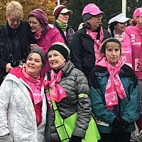 Breast cancer survivors, supporters brave flurries in Missoula's 1st Race for the Cure
