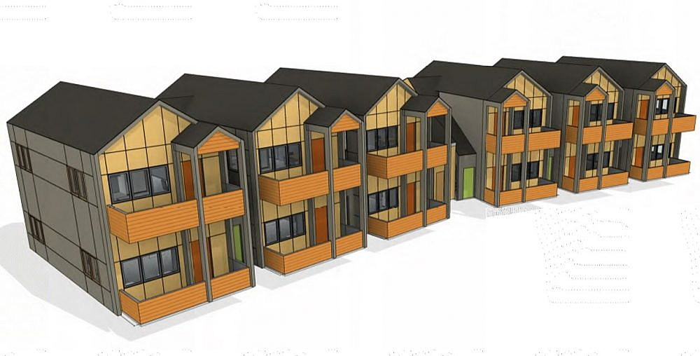 The Cornerstone Apartments Pictured Including 12 One Bedroom Units Reserved For High Risk Homeless In Missoula Image Courtesy Of Housing