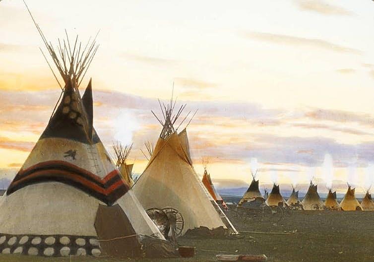 Blackfeet tepees.'
