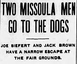 Missoiuan newspaper headline September 13 1907.